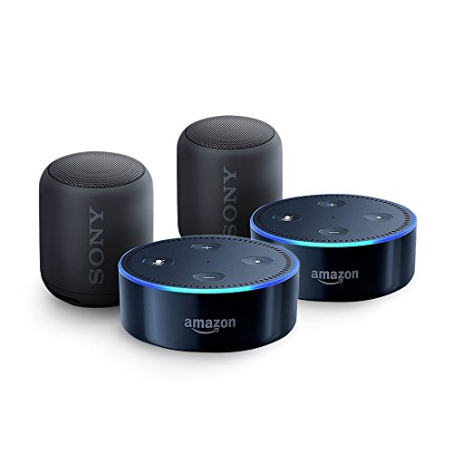echo dot sony xb10 bluetooth speaker multi room audio. Black Bedroom Furniture Sets. Home Design Ideas
