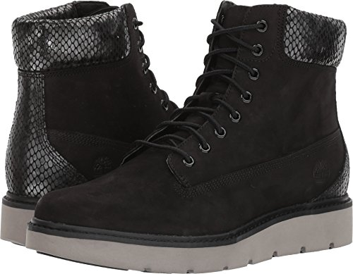 63891e90d293 Timberland Women s Kenniston 6-Inch Lace-Up Boots Black Nubuck w Shiny  Snake Trim 6.5 M